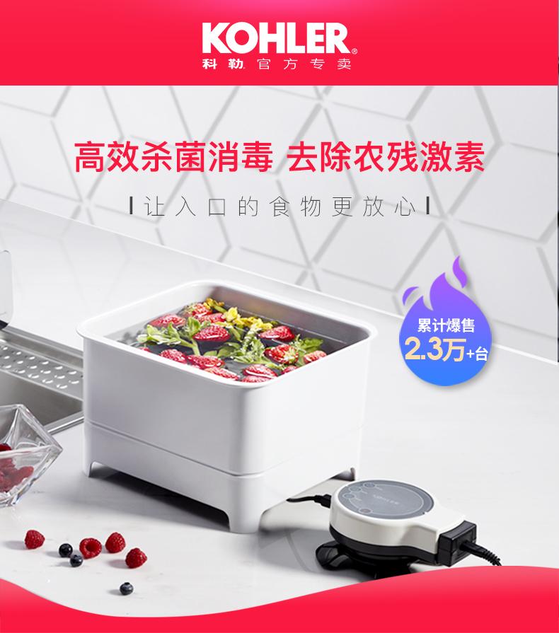 KOHLER 科勒 K-76792T-NA 果蔬清洗机 双重优惠券折后¥799包邮