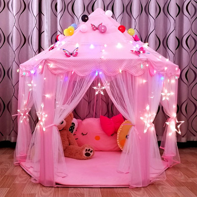 Children's tent indoor princess doll doll house oversized castle play house game house girl bed separation artifact