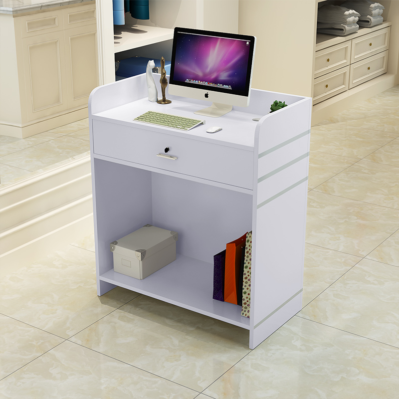 Small Cashier Counter Front Desk Table