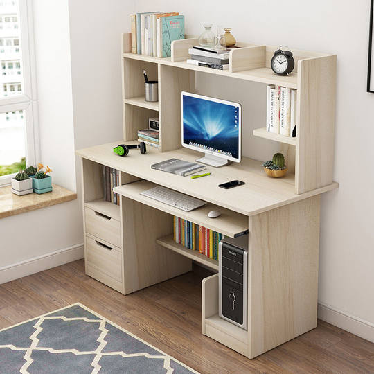 Computer desk desktop home bedroom student study writing desk dormitory bedside desk desk bookcase combination