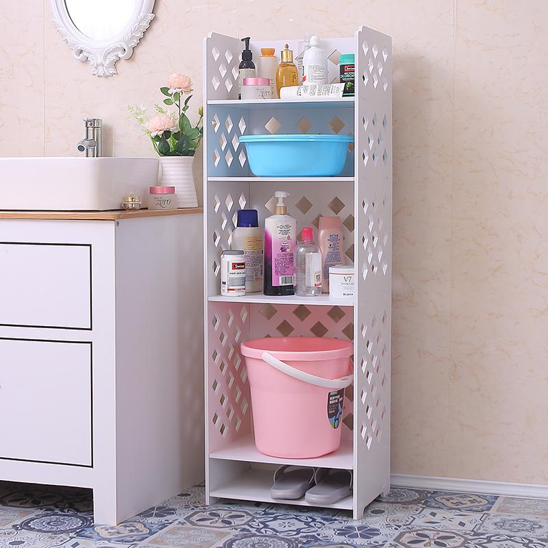卫生间置物架v厕所洗漱厕所置物柜洗手台脸盆架浴室防水用品收纳柜