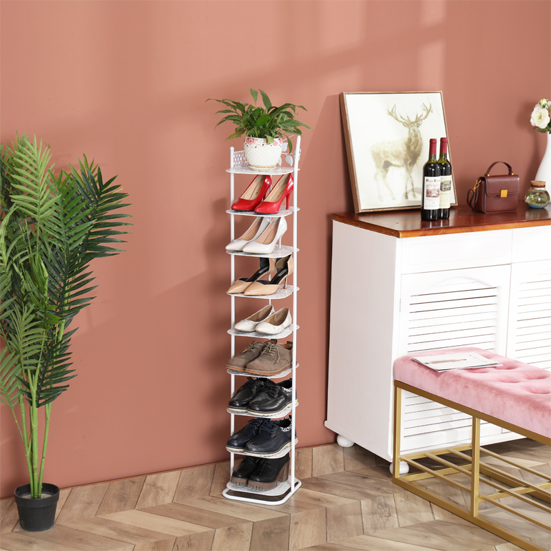 European Style Iron Shoe Rack Economic Home Multi Y Storage Cabinet Living Room Dormitory Dust Proof Small Simple