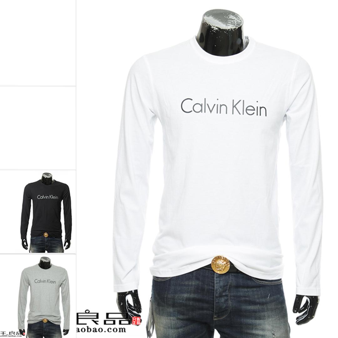 正品 Calvin Klein CK 卡尔文克雷恩 男士简约长袖圆领T恤NM1345E