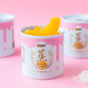 Lin family shop cans of ice sugar yellow peach 200g*4 cans