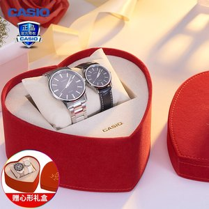 casio卡西欧手表男女正品钢带皮带防水情侣手表一对石英对表礼物
