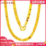 Sega Jewelry Gold Necklace Women's 999 Foot Gold Necklace Marriage Gift Phoenix Necklace Pure Gold Juitica