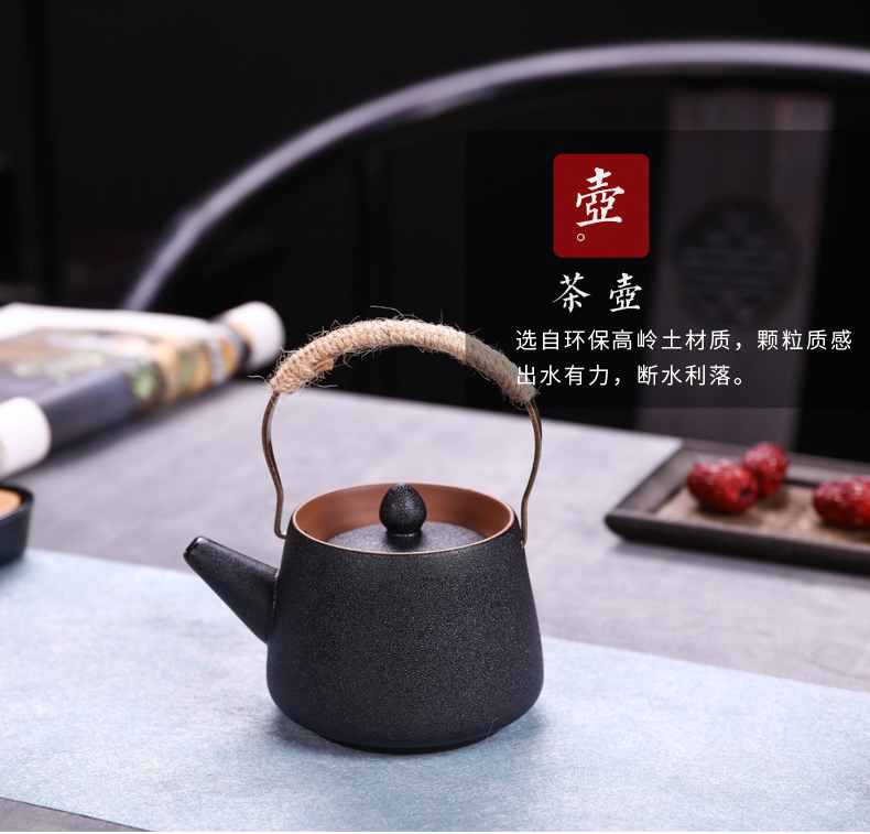 Kung fu tea set high - grade jingdezhen ceramic teapot teacup home portable travel office of a complete set of tea