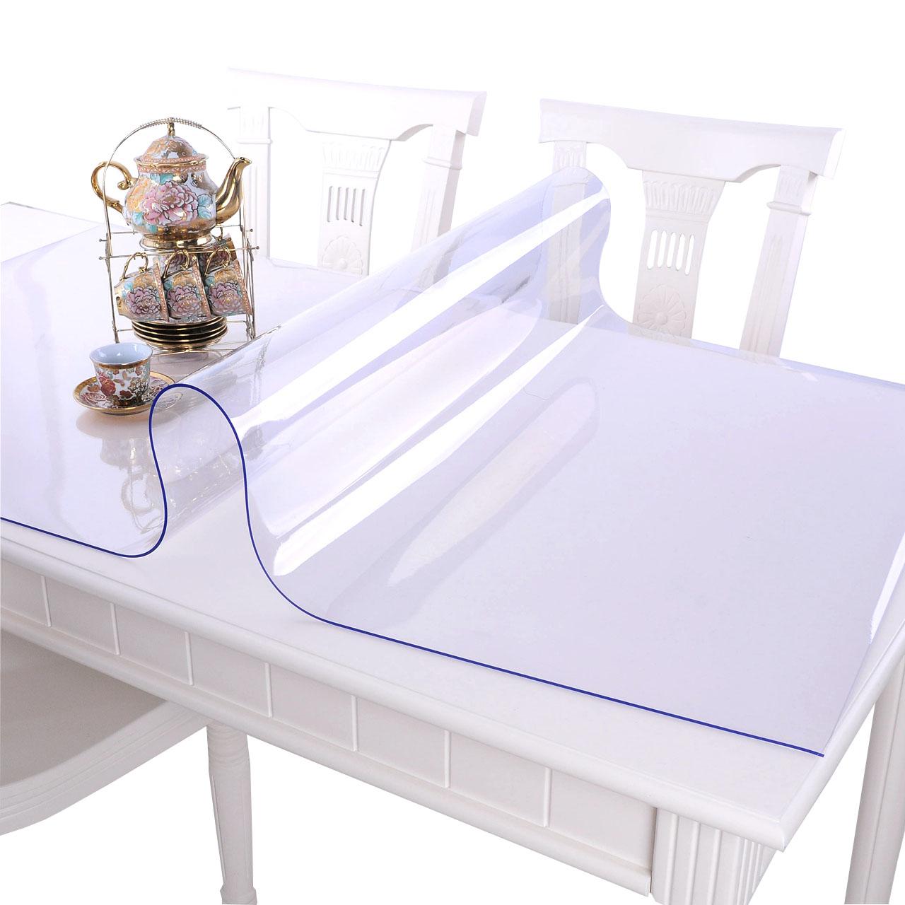 软玻璃PVC桌布防水防烫防油免洗塑料透明餐桌垫茶几网红厚水晶板