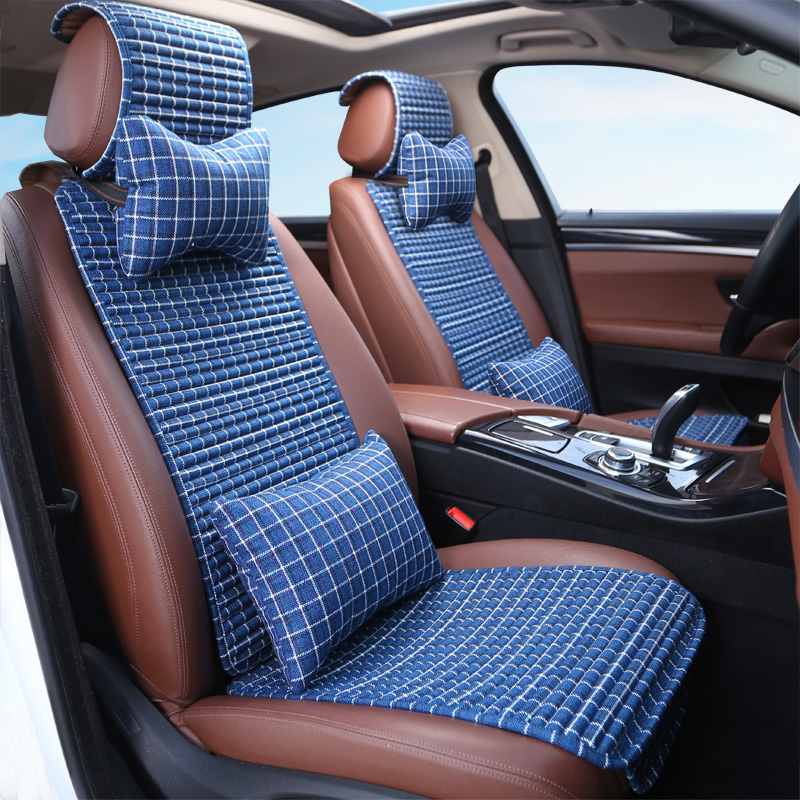 荞麦汽车夏季汽车壳通用四季透气夏天v荞麦通风填充冰丝座垫凉坐垫