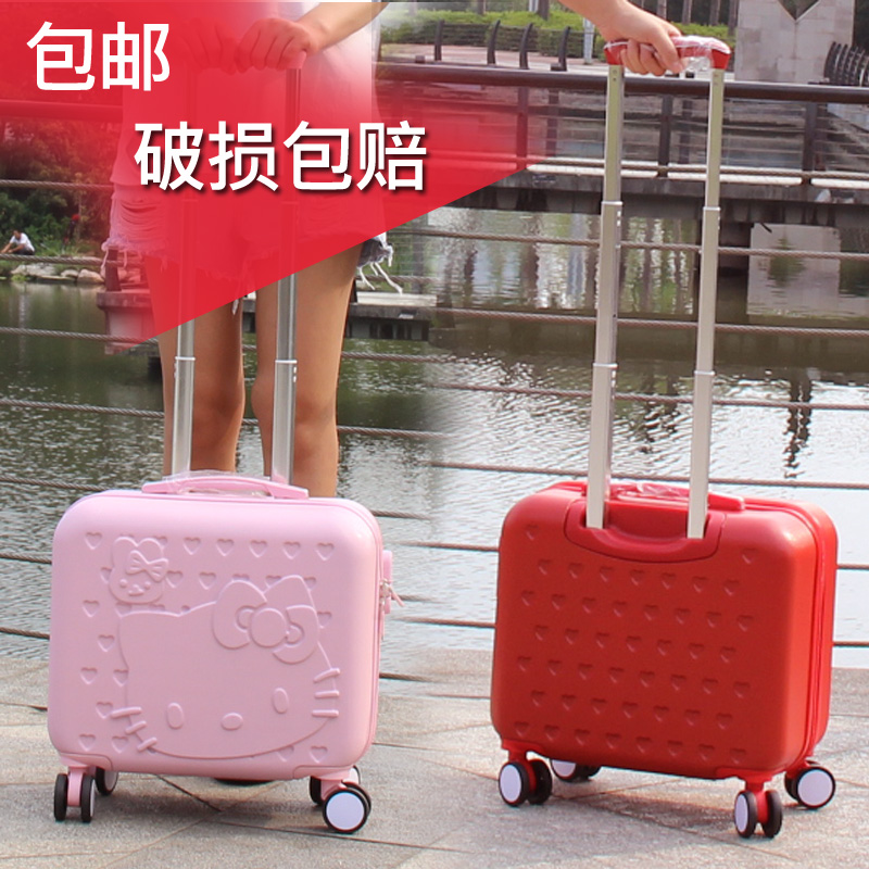 5c45035ddccc Cute small trolley case universal wheel male and female children's cartoon  suitcase luggage box 16-inch boarding box ultra-light