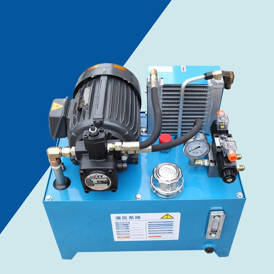 液压泵总成小型液压油缸系统泵站液压升降机千斤顶电动液压站图片