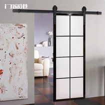Doors and windows Port Barn doors Glass hanging rail Kitchen Bathroom Hand washing Balcony Bathroom Sliding Sliding door Partition Nordic