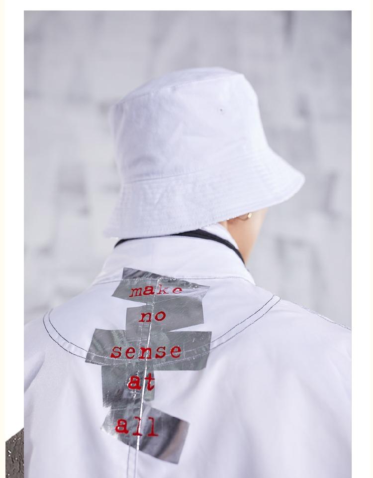 NSS 2018 SS triều đường thương hiệu quốc gia triều Cai Xukun Zhang Yixing với áo gió màu đen và trắng nam giới và phụ nữ