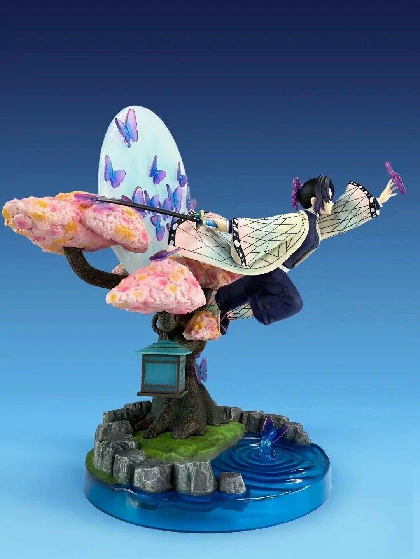 Statue Kimetsu No Yaiba Kochou Shinobu Figur Spielzeug Mipojs Demon Slayer Anime Kochou Shinobu PVC Actionfiguren 17Cm