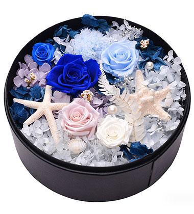 上海-永生花盒--蓝...