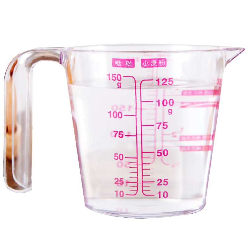 Double scale cup measuring cup with ML scale Cup plastic household milk  baking measuring gram degree Cup 500ml