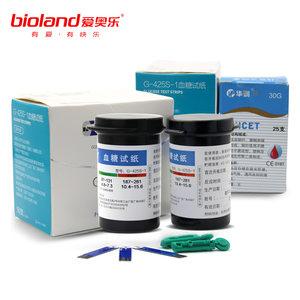 爱奥乐 G-425S-1血糖试纸 适用G-425-3血糖仪机型 50张试纸+50针