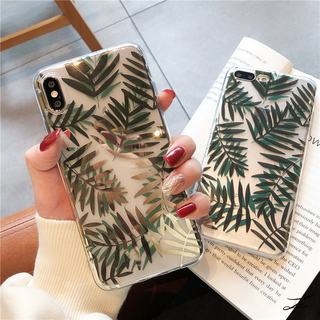 Apple 12p phone case bronzing leaves European and American style iPhone11promax/8plus/7p/xr/6s soft shell