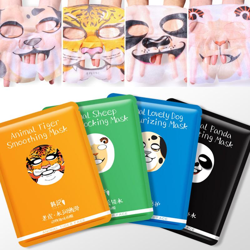 卡通图案动物面膜套装10贴 补水保湿滋润控油收毛孔化妆品正品女
