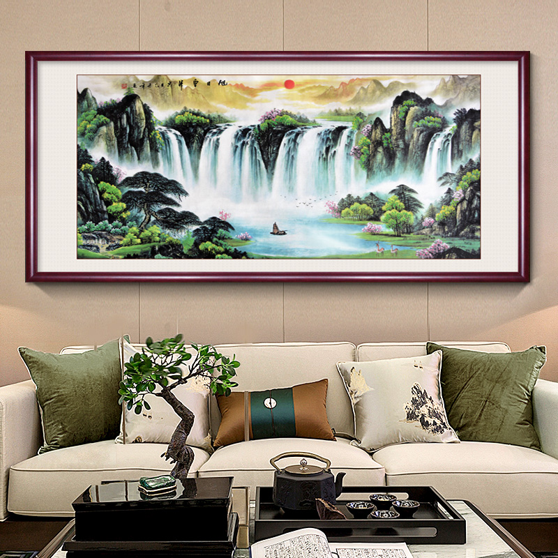 Rising Sun Landscape Painting The Living Room Sofa Backdrop Mural