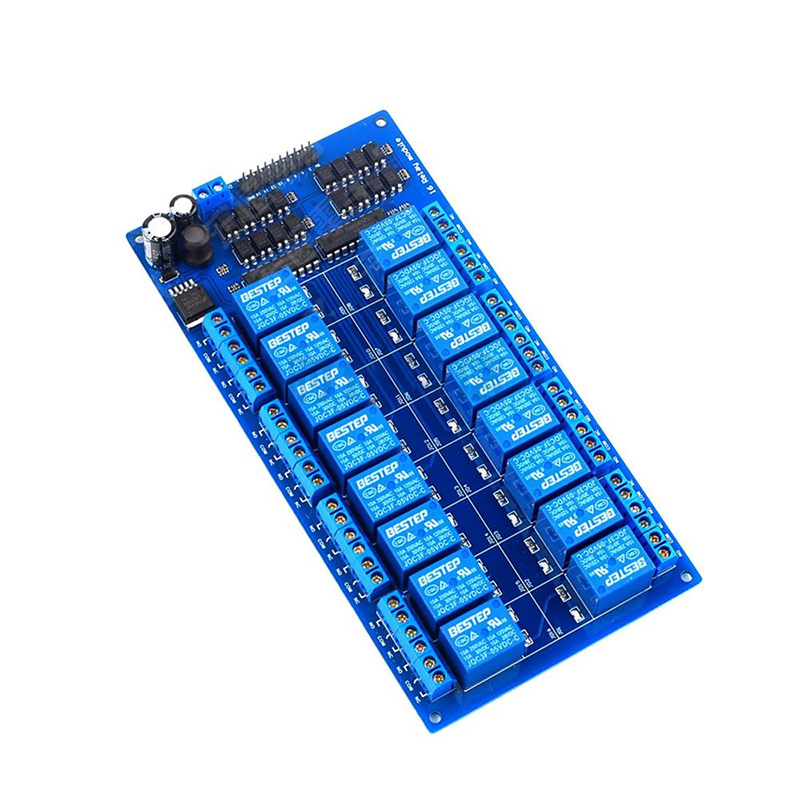 16-channel relay 5v12v optocoupler isolation low-level trigger PLC control  board multi-channel relay module 24v