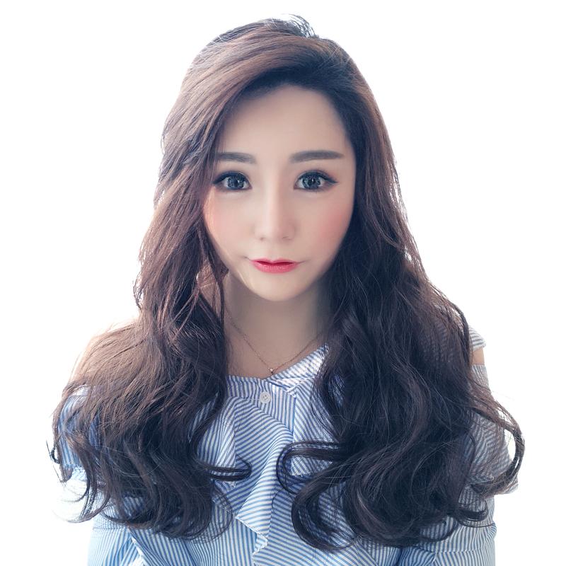 假发女长卷发大波浪网红可爱U型半头套长卷发无痕隐形假发女长发