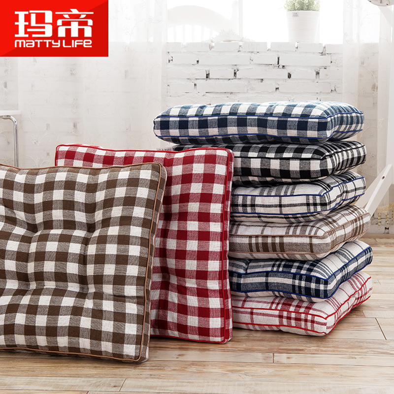 Grinding Plaid Thickened Cushions