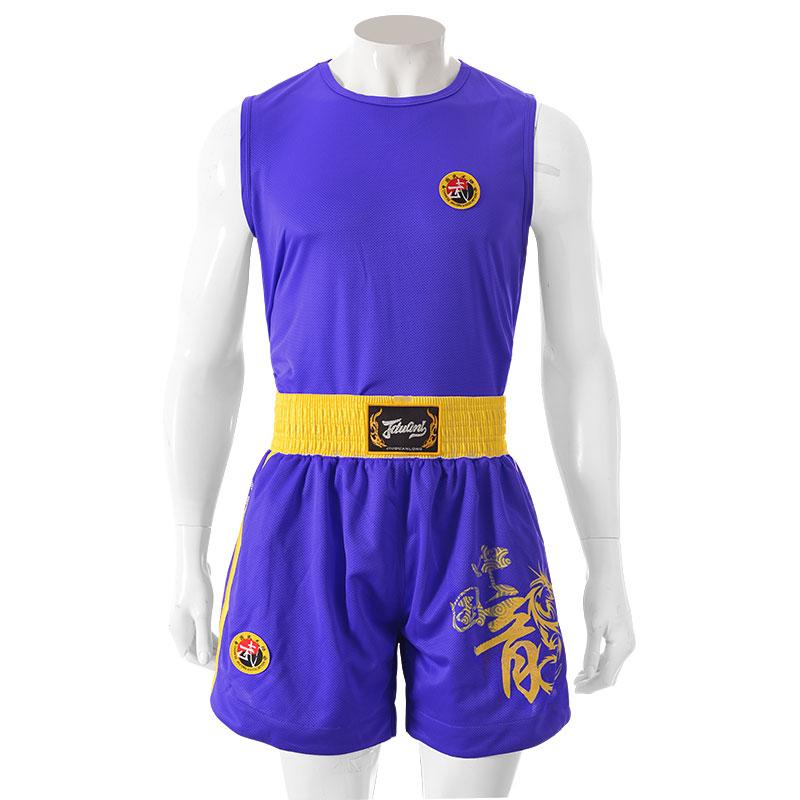 Цвет: Костюмы-синяя китайская одежда Дракон Санда