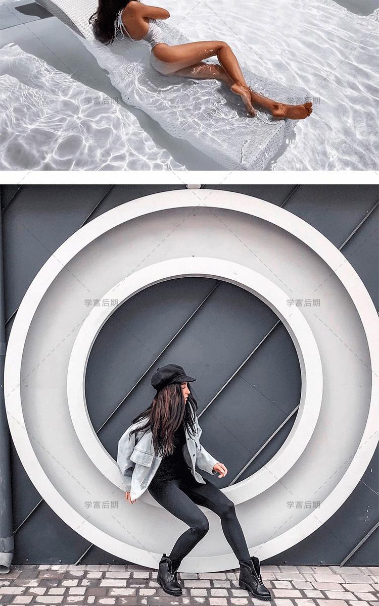 LR预设高级灰15款全INS网红博主街拍旅拍私房摄影人像PS调色滤镜