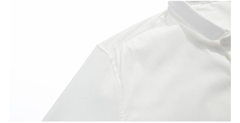 viishow白衬衫男长袖 免烫男衬衫 修身打底棉男式衬衣潮af4208