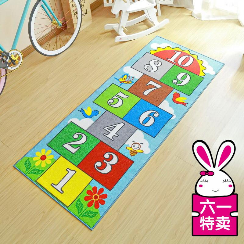 跳房子儿童地毯跳方格包邮跳格子数字垫公主儿童房游戏地垫可机洗