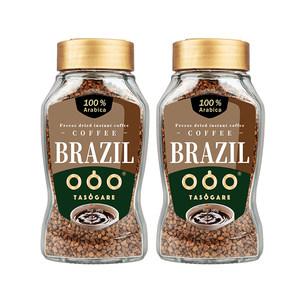 巴西进口 隅田川 黄金速溶冻干纯黑咖啡 美式无蔗糖 100g*2瓶 主图