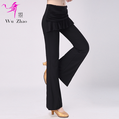 Modern Dance Practice Pants Fashionable Latin National Standard Dance Pants