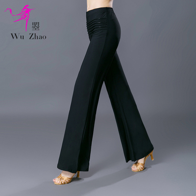 Adult Women's Modern Dance Broad-legged Pants Slimming and Latin National Standard Dance Practice Pants