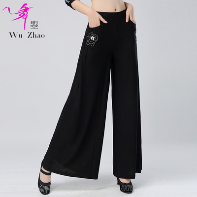 Fashion, modern dance, wide-legged pants, women's Latin National Standard Square dance practice trousers