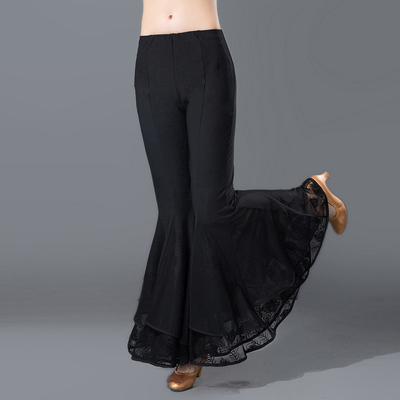Female Modern Dance Bell Pants Latin National Standard Square Dance Practice Show Pants