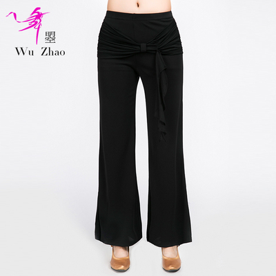 Adult Female Modern Dance Pants Fashionable Latin National Standard Dance Practice Pants