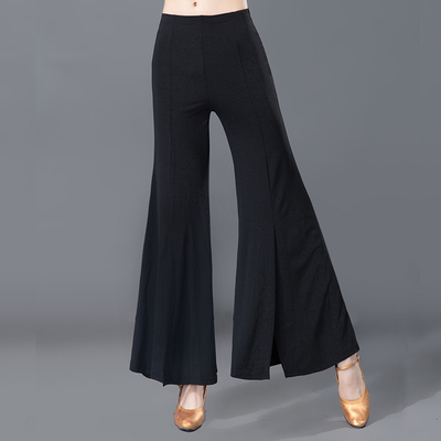 Adult Female Modern Dance Broad-legged Bell Pants with Latin National Standard Square Dance Pants