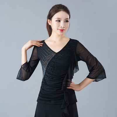 Ladies'Modern Dance Dress Jacket Received Sleeve of Latin Dance Square Dance Dress