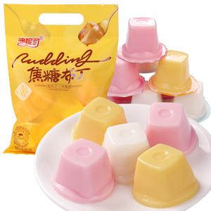 迪怩司焦糖布丁即食495g芒果布丁果冻0脂儿童魔果汁布丁零食整箱