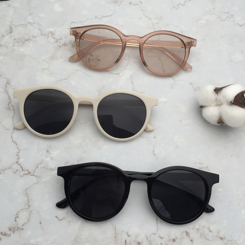 df7e8a2cf4 Zhang Dayi with round sunglasses female tide South Korea small round box  ocean sunglasses anchor chic glasses personality