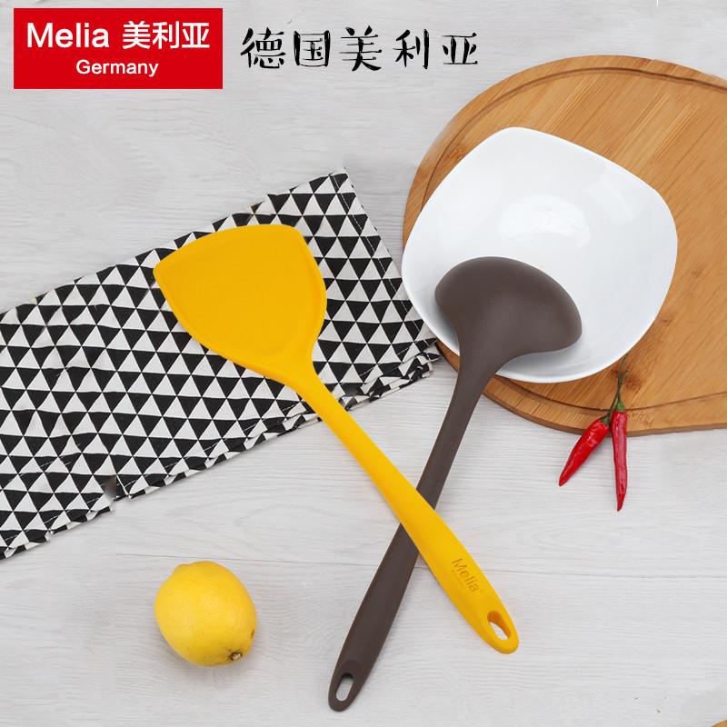德国美利亚硅胶锅铲子家用炒菜耐高温不粘锅专用汤勺子厨具套装