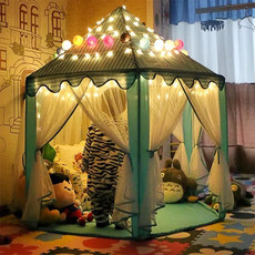 Children's hexagonal tent Princess super Castle game house inside and outside baby house toy house birthday gift