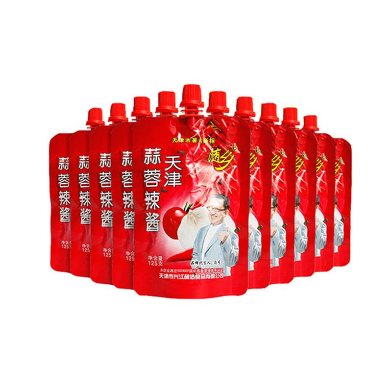 天津随乡蒜蓉辣酱125g*10袋