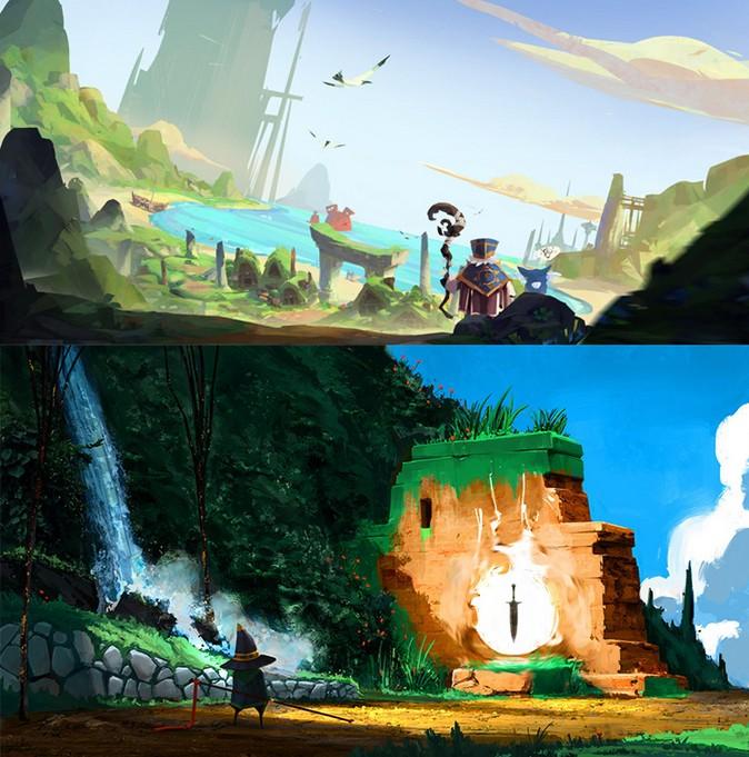 唯美卡通Q版概念设计 游戏氛围图 设定参考 原画CG素材图集