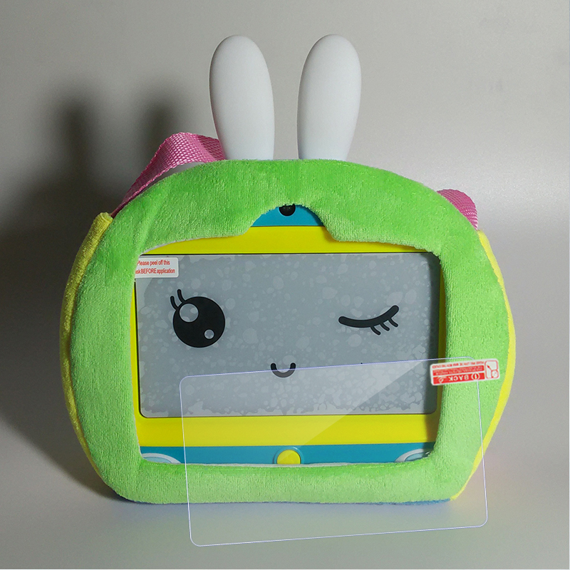 Green bag + tempered glass film  rabbit
