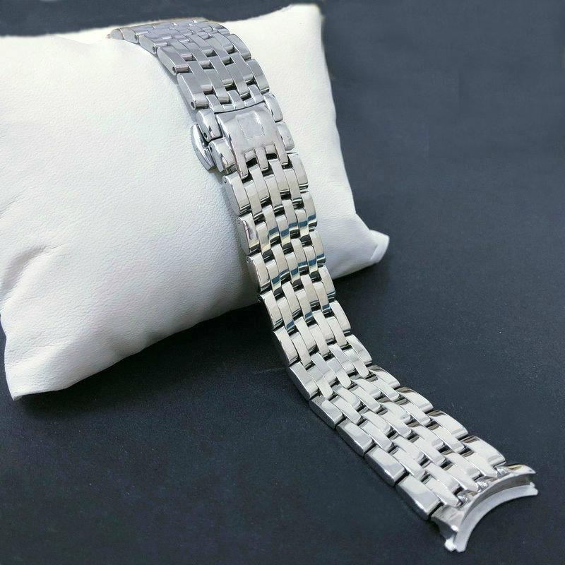 v原装欧米茄钢带原装蝶飞424精钢表带实心钢带配件男士带20MM手表