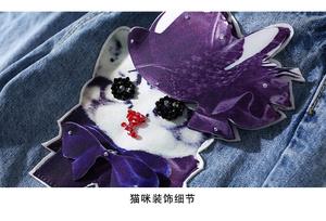 FS25906# 潮牌新款韩版牛仔裤 重工钉珠修身百搭牛仔破洞裤
