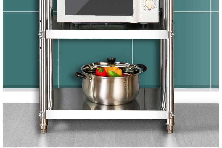 厨房置物架落地式多层可调节不锈钢收纳四层调料碗架多功能架子详细照片