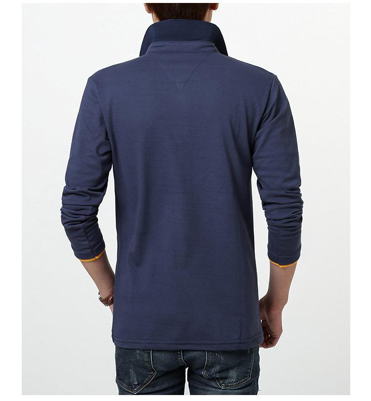 Mùa xuân và Mùa Thu Nam Dài Tay Áo T-Shirt Nam Kích Thước Lớn Slim Ve Áo Polo Áo Bông Quần Áo Hàng Đầu của Nam Giới Kinh Doanh Bình Thường áo thun adidas